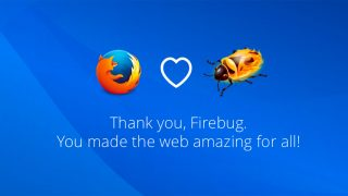 au revoir Firebug