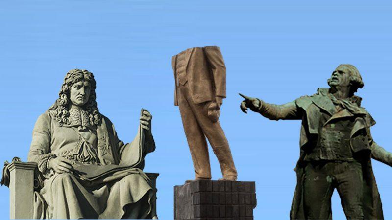 La statue du Général Lee gisant à terre