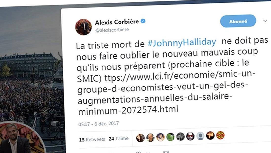 Un twett très indécent du député Alexis Corbiere