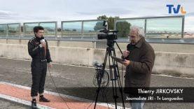 Le journaliste Thierry Jirkovsky et Pierre André Nicolas avant de faire un tour sur circuit
