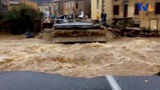 Des ponts coupés dans l'Aude
