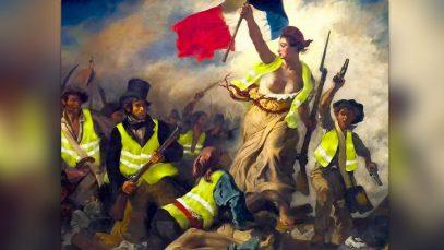 Quand Marianne de Delacroix devient une émeutière, représentant le peuple gilets jaunes