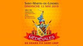 L'affiche des médiévales du Grand Pic Saint Loup 2019.