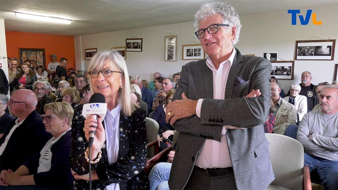 Martine Marragou, présidente d'Emmaüs Montpellier et Jean-Michel Rouzaud Commissaire Priseur de Montpellier.