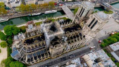 Notre-Dame de Paris vue par un drone