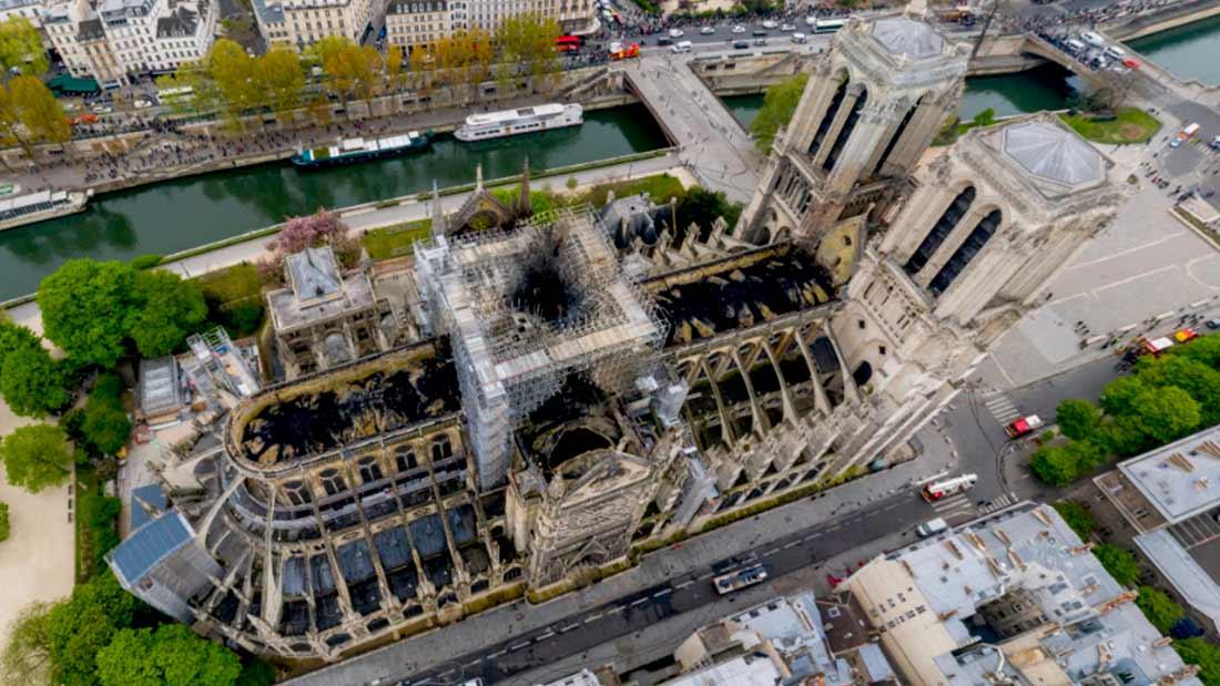Notre-Dame de Paris vue par drone