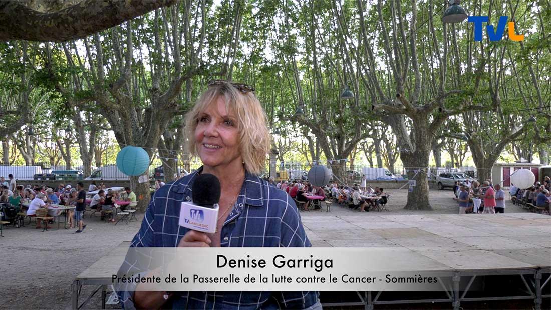 Denise Garriga, présidente de la Passerelle de la lutte contre le cancer à Sommieres