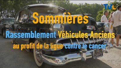 Sommieres : Grande réunions de voitures anciennes au profit de la lutte contre le cancer.