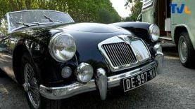 Une MG parmi les voitures anciennes exposées à Sommières au profit de la lutte contre le cancer