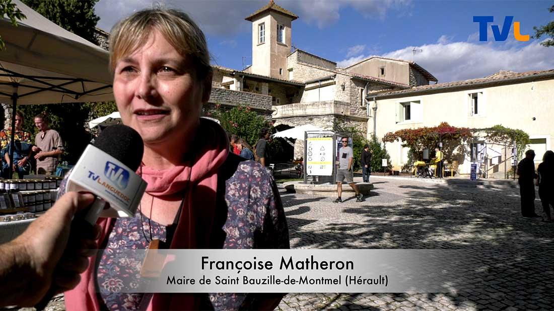Fervente adepte de la transition écologique lors de la fête du possible 2019, Françoise Matheron Maire de Saint Bauzille de Montmel propose des solutions durables