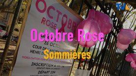Journée pour la ligue contre le cancer du sein Octobre rose 2019 à Sommières