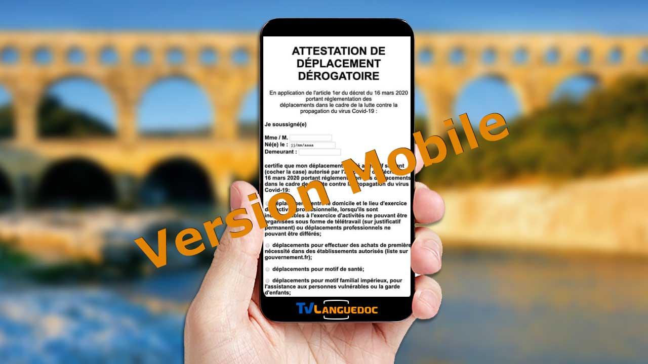 Formulaire de dérogation de sortie version mobile