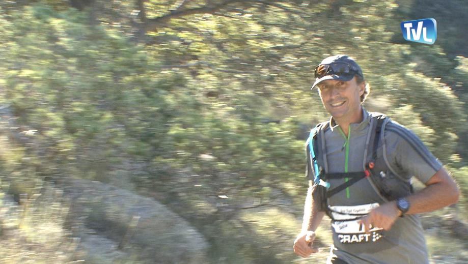 Jean-François Wygas, sportif et réalisateur nimois lors de la course écotrail 2015 de Monoblet
